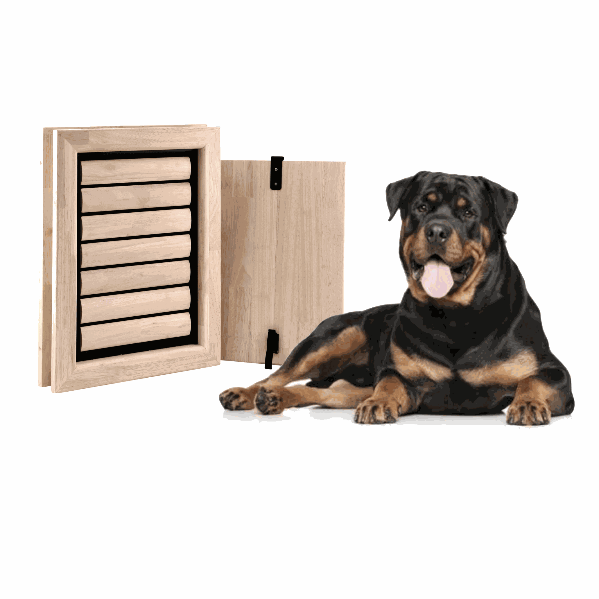 Dog Flap | Dog Door | Beethoven (Extra Large) dog door for very large dogs | fits in doors and walls | Bullmastiff, Dobberman, Bloodhound, Bernese Sennen, Cane Corso, Shepherd, Bordeaux Dog, Great Dane, Newfoundlander | © Tomsgates