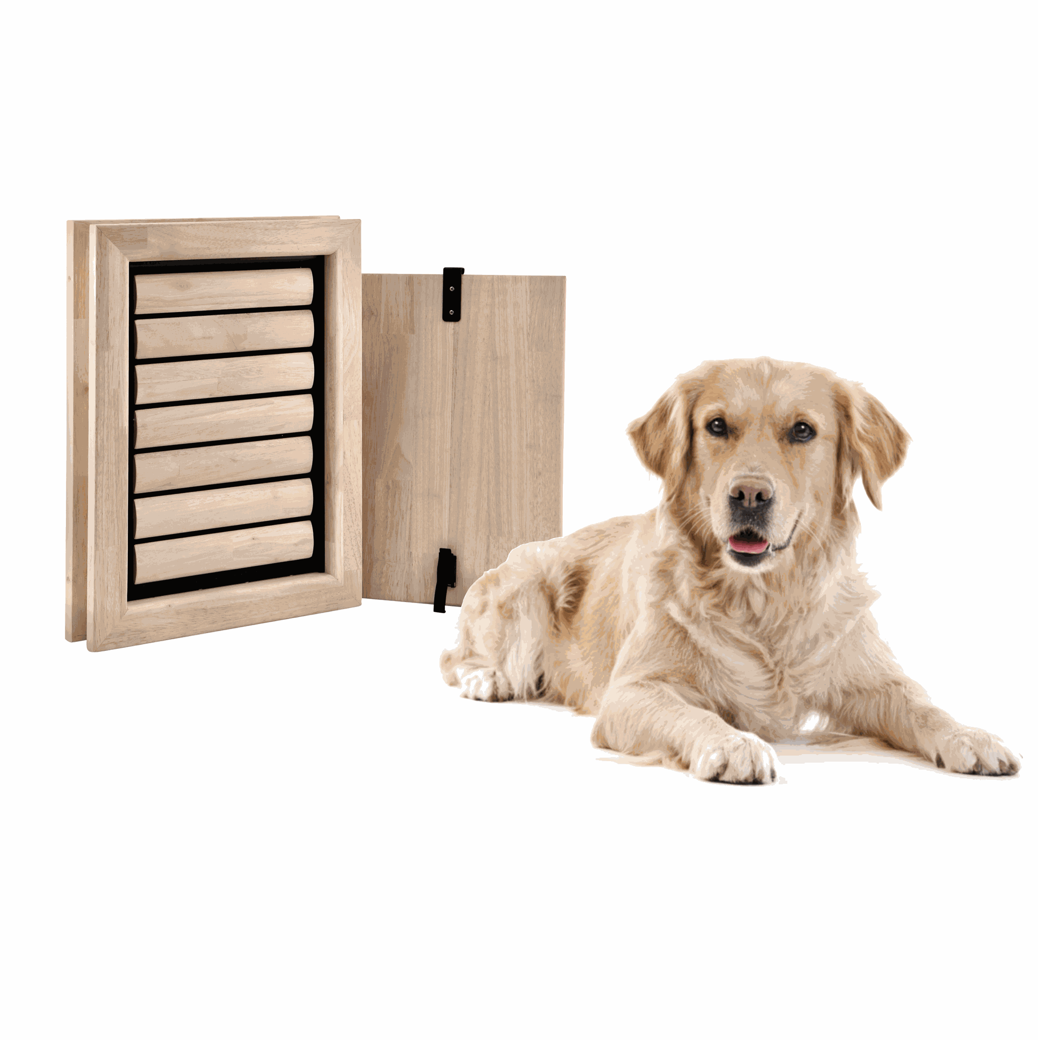 Dog Flap | Dog Door | Bouncer (Large) dog flap for large dogs | fits in doors and walls | Labrador, German Shepherd, Golden Retriever, Bordercollie | © Tomsgates